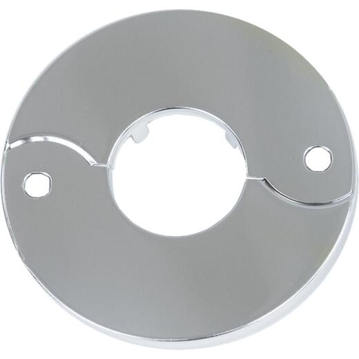 Lasco Chrome-Plated 3/4 In. IP or 1 In. Copper 1 In. ID Split Plate