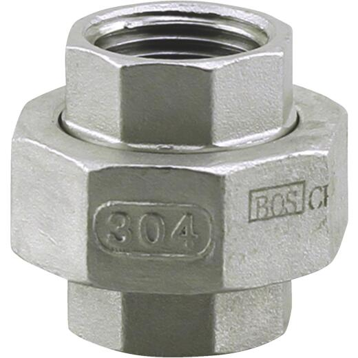 PLUMB-EEZE 1-1/4 In. FIP Stainless Steel Union