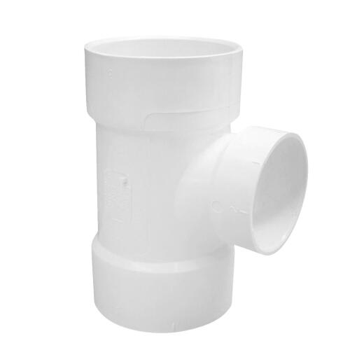 Charlotte Pipe 3 In. Sch 30 x 2 In. Sch 40 Reducing Sanitary PVC Tee