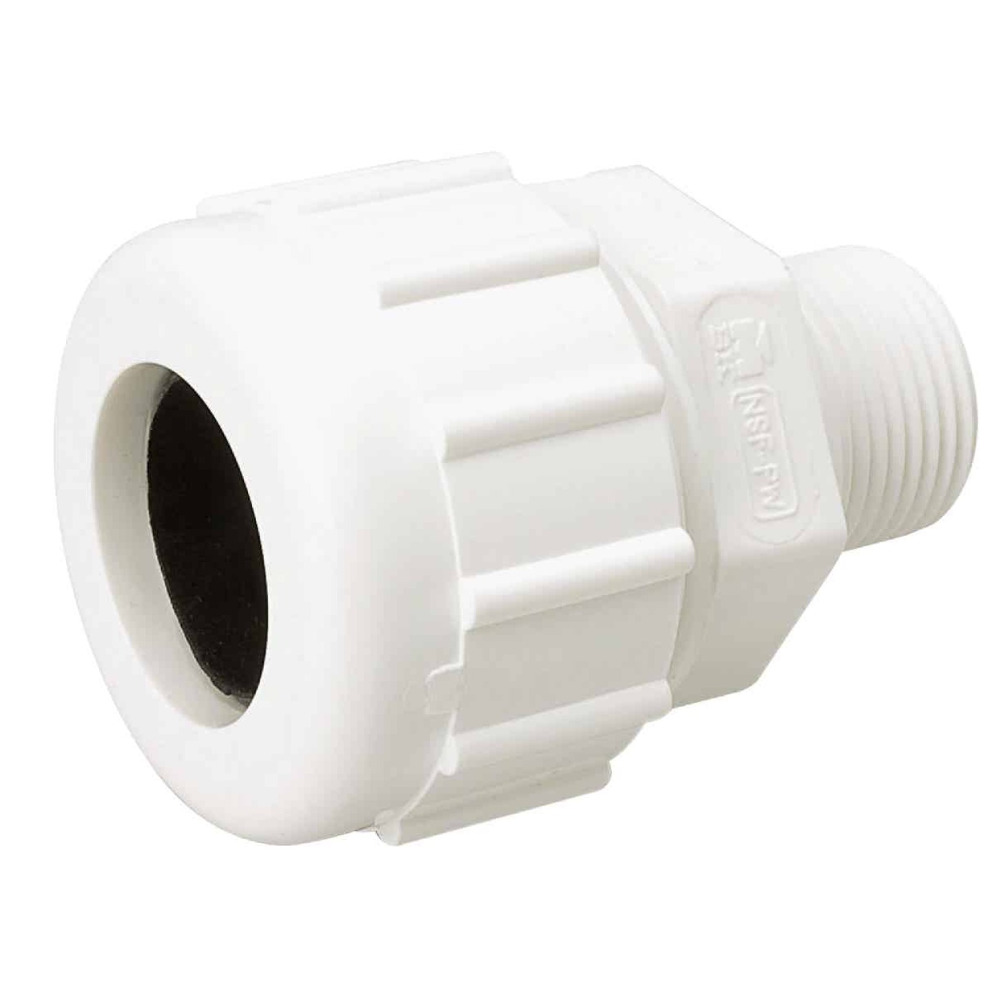 B&K 1-1/4 In. MIPT Schedule 40 Compression Union PVC Adapter Image 1