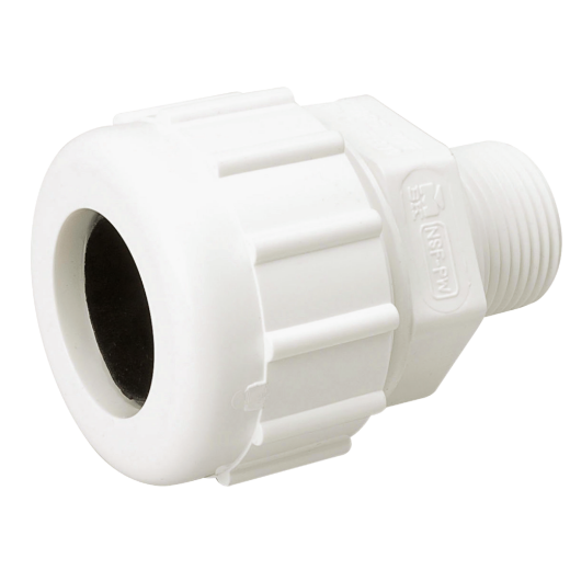 B&K 1/2 In. MIPT Schedule 40 Compression Union PVC Adapter