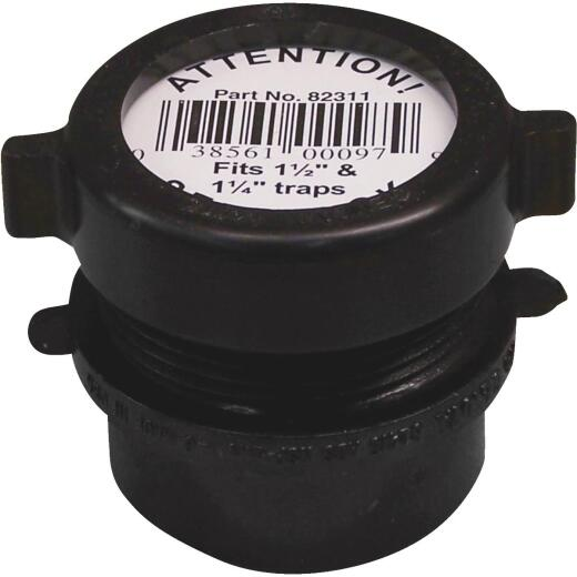 Charlotte Pipe 1-1/2 In. x 1-1/4 In. SPG x Tubular Black ABS Waste Adapter