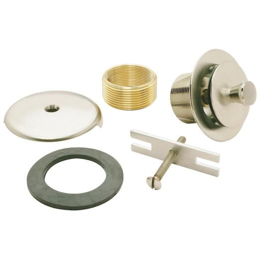 Do it Brushed Nickel Roller Ball Bath Drain Trim Kit