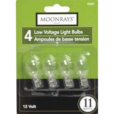 Moonrays 11W Clear T5 Wedge Base Landscape Low Voltage Light Bulb (4-Pack)