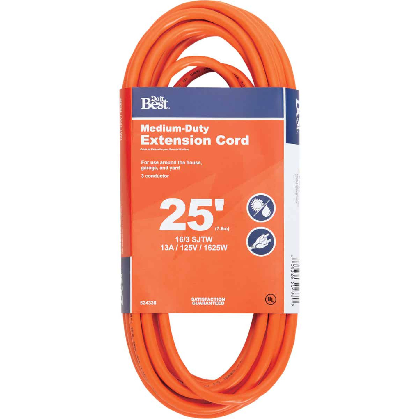 Do it Best 25 Ft. 16/3 Outdoor Extension Cord Image 1