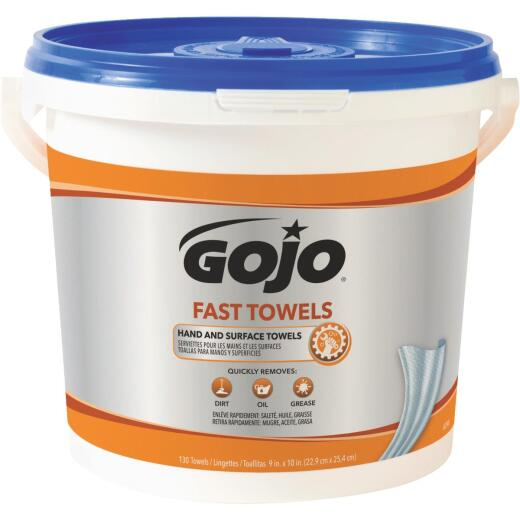 GOJO Citrus Pop-up Dispenser Fast Hand Cleaner Wipes, (130 Ct.)