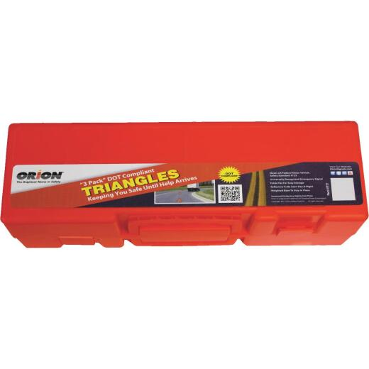 Orion Safety Standard #125 Fluorescent Orange Emergency Warning Triangle Kit