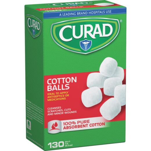 Curad Sterile 1 In. Cotton Balls, (130 Ct.)