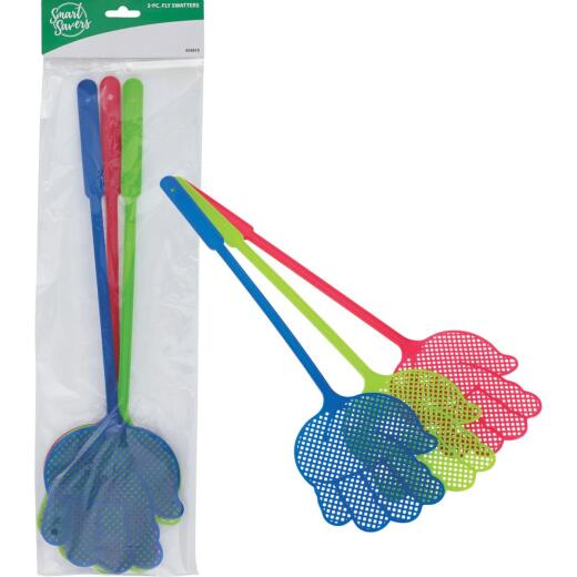 Smart Savers 5 In. x 4.7 In. Plastic Fly Swatter (3-Pack)