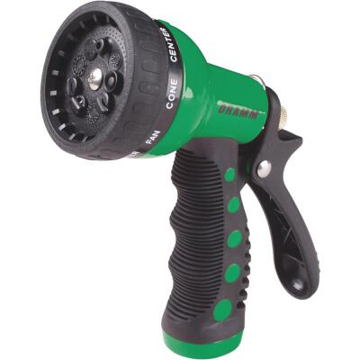 Dramm Heavy-Duty Metal 9-Pattern Nozzle, Green