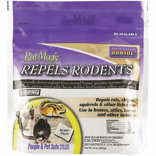 Bonide Rat Magic 12 Oz. Granular Rodent Repellent Scent Packs (8-Pack)