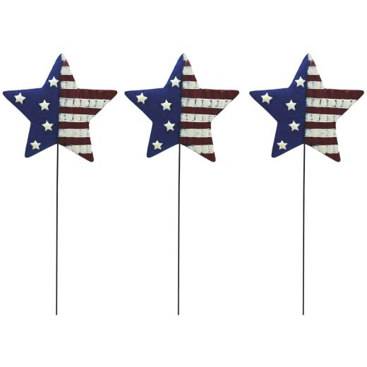 Alpine 24 In. Metal American Flag Garden Stake Lawn Ornament