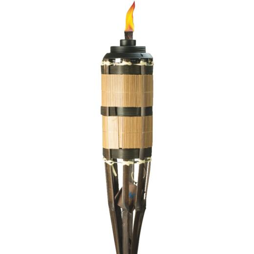 Tiki Cypress 5 Ft. Brown Bamboo Patio Torch