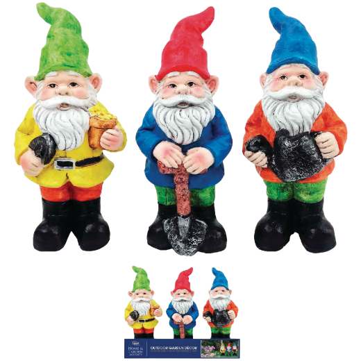 Alpine 10 In. Resin Gnome Lawn Ornament