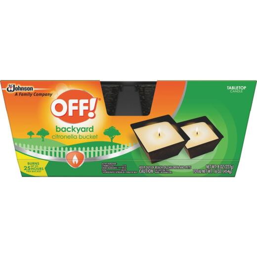 OFF! 8 Oz. 1-Wick Mini Citronella Candle (2-Pack)